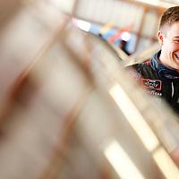 June 16, 2018 - Newton, Iowa, USA: Ty Majeski (60) hangs out in the garage during practice for the Iowa 250 at Iowa Speedway in Newton, Iowa.
