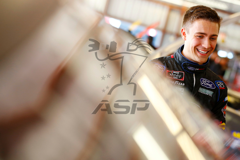 June 16, 2018 - Newton, Iowa, USA: Ty Majeski (60) hangs out in the garage during practice for the Iowa 250 at Iowa Speedway in Newton, Iowa.