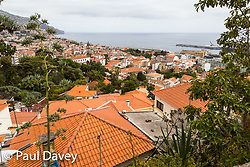 A view across the rooftops of Funchal from St John The Baptist Fort in Funchal, Madeira. MADEIRA, September 25 2018. © Paul Davey