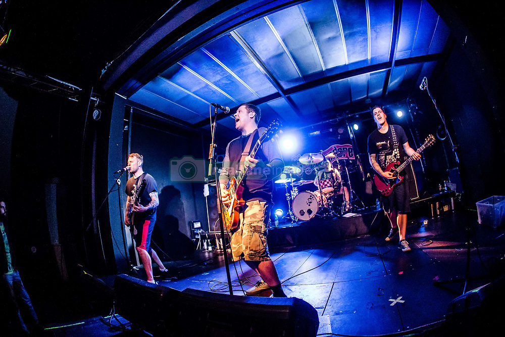 April 26, 2017 - Milano, Italy, Italy - Punk rock band Belvedere performs live at Honky Tonky. (Credit Image: © Mairo Cinquetti/Pacific Press via ZUMA Wire)