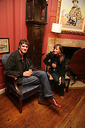 James Cooper and Lucy Bannatyne,  KRUG PRESENTS OLIVER CLEGG PRIVATE VIEW AT 68 DEAN ST.  Afterwards Krug Art party at the Groucho club. London. 9 May 2007. -DO NOT ARCHIVE-© Copyright Photograph by Dafydd Jones. 248 Clapham Rd. London SW9 0PZ. Tel 0207 820 0771. www.dafjones.com.