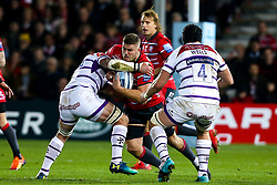 Ed Slater of Gloucester Rugby is tackled - Mandatory by-line: Robbie Stephenson/JMP - 16/11/2018 - RUGBY - Kingsholm - Gloucester, England - Gloucester Rugby v Leicester Tigers - Gallagher Premiership Rugby