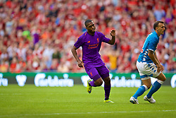DUBLIN, REPUBLIC OF IRELAND - Saturday, August 4, 2018: Liverpool's Daniel Sturridge celebrates scoring the fourth goal during the preseason friendly match between SSC Napoli and Liverpool FC at Landsdowne Road. (Pic by David Rawcliffe/Propaganda)
