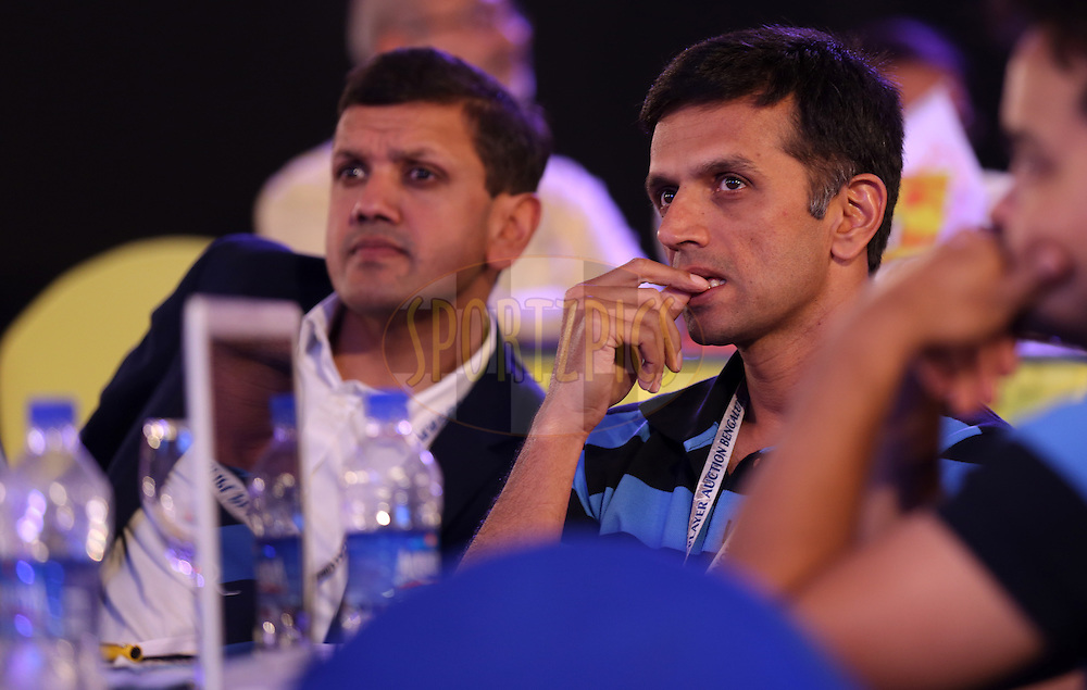 Rahul Dravid fo Rajasthan Royals during the Pepsi IPL Player Auction held at the ITC Gardenia in Bengaluru, India on the 13th February 2014<br /> <br /> Photo by Sandeep Shetty/BCCI/SPORTZPICS