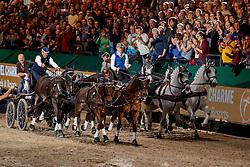 CHARDON Bram (NED), EXELL Boyd (AUS), FERCH Heino (Schauspieler)<br /> Leipzig - Partner Pferd 2020<br /> Siegerehrung<br /> TRAVEL CHARME Hotels & Resorts Trophy <br /> FEI Driving World Cup™<br /> FEI World Cup Qualifikation der Vierspänner<br /> Zeithindernisfahren für Vierspänner, international<br /> 19. Januar 2020<br /> © www.sportfotos-lafrentz.de/Stefan Lafrentz