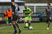 Forest Green Rovers Farrend Rawson(6) during the EFL Sky Bet League 2 match between Forest Green Rovers and Lincoln City at the New Lawn, Forest Green, United Kingdom on 2 March 2019.