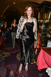 KAREN ELSON at a dinner to celebrate the launch of Genetic - Liberty Ross hosted by Liberty Ross and Ali Fatourechi at Annabel's, 44 Berkeley Square, London on 3rd September 2014.