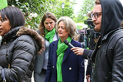 © Licensed to London News Pictures. 14/06/2019. London, UK. Kensington and Chelsea council leader, Elizabeth Campbell, arrives at St Helen's Church to commemorate the second anniversary of the Grenfell Tower fire service. On 14 June 2017, just before 1:00am a fire broke out in the kitchen of the fourth floor flat at the 24-storey residential tower block in North Kensington, West London, which took the lives of 72 people. More than 70 others were injured and 223 people escaped. Photo credit: Dinendra Haria/LNP