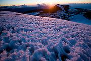 Mauna Kea Observatory, sunset