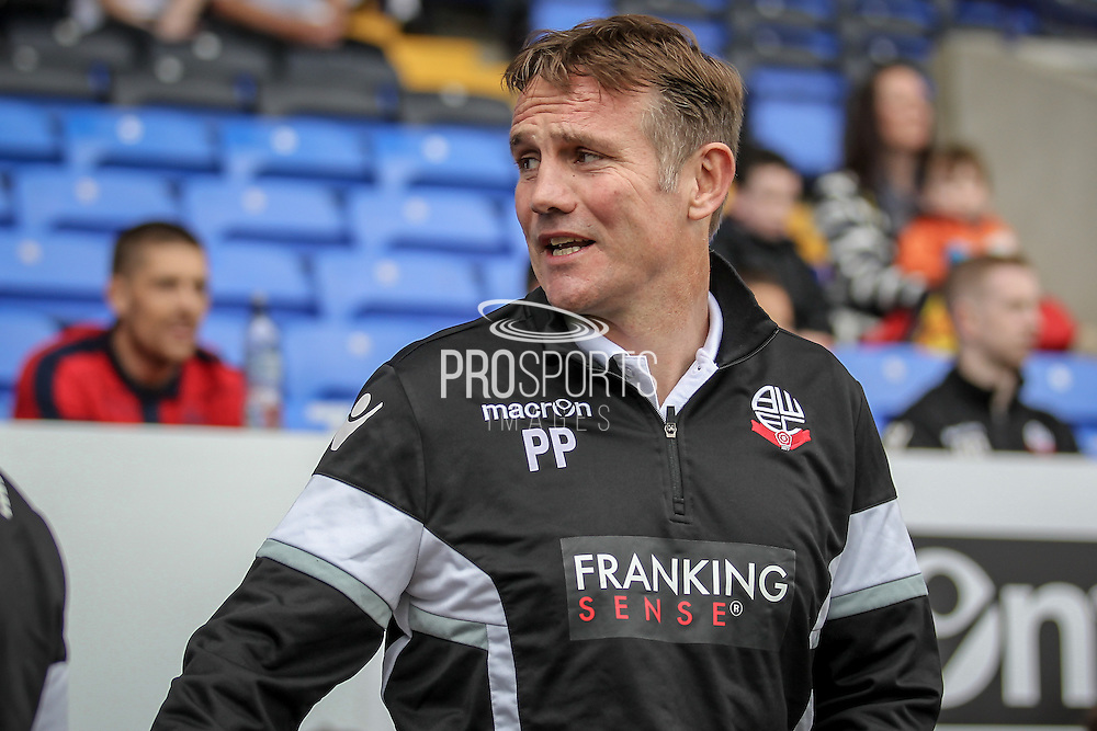 Phil Parkinson (Manager) (Bolton Wanderers) before the Pre-Season Friendly match between Bolton Wanderers and Preston North End at the Macron Stadium, Bolton, England on 30 July 2016. Photo by Mark P Doherty.