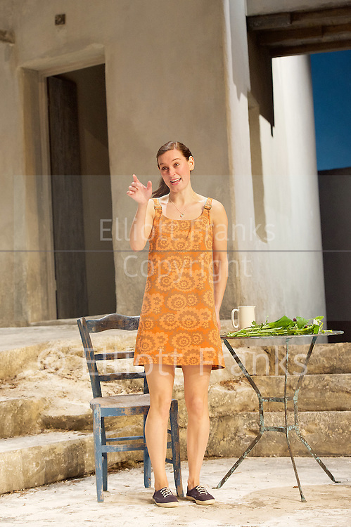 Sunset at the Villa Thalia <br /> by Alexi Kaye Campbell<br /> at Dorfman Theatre, National Theatre, Southbank, London, Great Britain <br /> <br /> 31st May 2016 <br /> press photocall <br />  <br /> <br /> directed by Simon Godwin<br />  <br /> <br /> <br /> <br /> Pippa Nixon as Charlotte <br /> <br />  <br /> <br /> Photograph by Elliott Franks <br /> Image licensed to Elliott Franks Photography Services