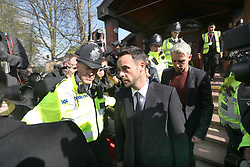 TV presenter Anthony McPartlin (centre) outside The Court House in Wimbledon, London, after being fined £86,000 at Wimbledon Magistrates' Court after admitting driving while more than twice the legal alcohol limit.