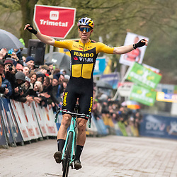 2020-02-07 Cycling: dvv verzekeringen trofee: Lille: Wout van Aert wins on his home soil