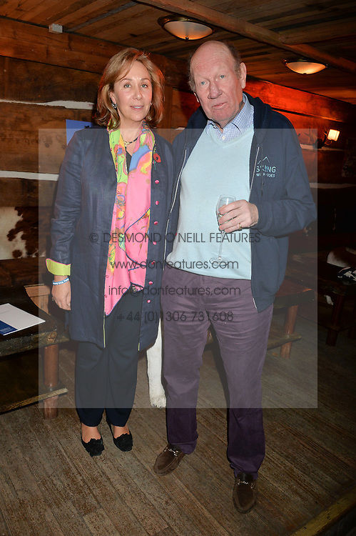 GILLY NORTON founder of Sking With Heroes and GEORGE BROOKSBANK at Skiing With Heroes Junior Committee Awareness Party held at Bodo's Schloss, 2A Kensington High Street, London on 6th November 2014.