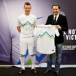 "20120419: SLO, Football - New ""home"" jersey of Slovenian National team"