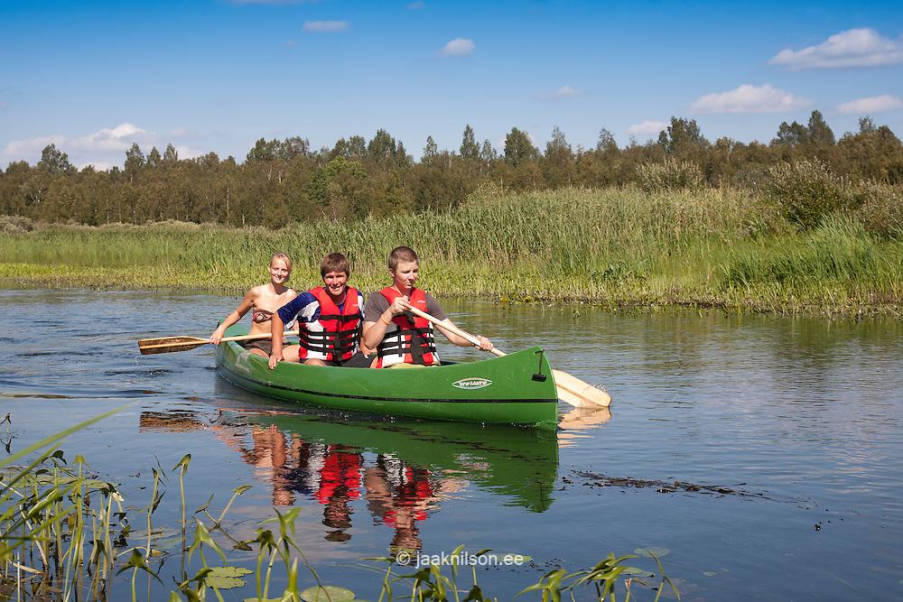 Canoe Trip, Elva River, Tartu County, Estonia