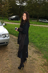 AMANDA HARLECH at the wedding of Lucy Ferry to Robin Birley held at Ormsby Lodge, Ham Gate Avenue, Ham, Surrey on 26th October 2006.<br />