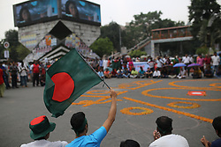 October 4, 2018 - Dhaka, Bangladesh - Freedom fighters' quota seekers protest at Shahbag square demanding reinstating 30 per cent quota in government civil service for freedom fighters' children and grandchildren after the Bangladeshi cabinet has approved a government committee's decision to abolish the existing quota system for 1st and 2nd class government job in Dhaka, Bangladesh on October 4, 2018. (Credit Image: © Rehman Asad/NurPhoto/ZUMA Press)