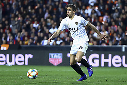 February 28, 2019 - Valencia, Spain - Gabriel Paulista  of Valencia CF During Spanish King La Copa match between  Valencia cf vs Real Betis Balompie Second leg  at Mestalla Stadium on February 28, 2019. (Photo by Jose Miguel Fernandez/NurPhoto) (Credit Image: © Jose Miguel Fernandez/NurPhoto via ZUMA Press)