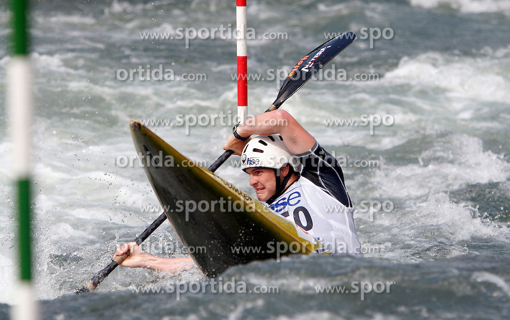 Gold Winner Peter Kauzer at European championship in slalom Tacen 2005, on June 26, 2005, Ljubljana, Slovenia. (Photo by Vid Ponikvar / Sportal Images)..