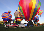 Balloonists from Utah, Idaho, Texas, Nevada and Washington took part in the Balloon Stampede in Walla Walla Washington.  <br />