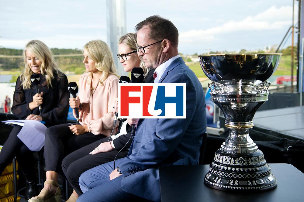 AUCKLAND - Sentinel Hockey World League final women<br /> Match id 10321<br /> Korea v England Bronze<br /> Foto:  TV interview Jason Mccracken.<br /> WORLDSPORTPICS COPYRIGHT FRANK UIJLENBROEK