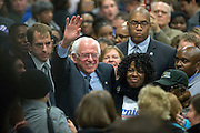 Democratic presidential candidate Bernie Sanders makes his way through a crowd before he speaks at the Jim Clyburn Fish Fry, on Saturday, Jan. 16, 2016, at the Charleston Visitor Center in Charleston, S.C. (AP Photo/Stephen B. Morton)
