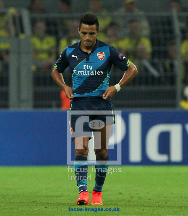 Alexis S&aacute;nchez of Arsenal during the UEFA Champions League match at Signal Iduna Park, Dortmund<br /> Picture by Tom Smith/Focus Images Ltd 07545141164<br /> 16/09/2014