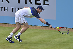 June 19, 2018 - London, England, United Kingdom - Andy Murray (GBR) plays against Nick Kyrgios (AUS) during their first singles match on day two of Fever Tree Championships at Queen's Club, London on June 19, 2018. (Credit Image: © Alberto Pezzali/NurPhoto via ZUMA Press)