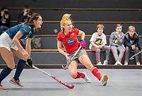 HAMBURG  (Ger) - Match 19,  for bronze , Der Club an der Alster (Ger) - Club Campo de Madrid (Esp)  Photo: Hanna Valentin (Alster)  Eurohockey Indoor  Club Cup 2019 Women . WORLDSPORTPICS COPYRIGHT  KOEN SUYK