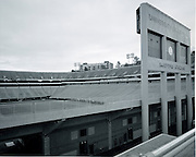Sanford Stadium at the University of Georgia.  Created with a 4x5 field camera, made of wood, and Tri-X film.  Created on 29 December, 1991.