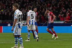 October 27, 2018 - Madrid, Madrid, Spain - Atletico de Madrid,.Filipe Luis,.during the match between Atletico de Madrid vs Real Sociedad. Atletico de Madrid won by 2 to 0 over Real Sociedad whit goals of Godin and Filipe Luis. (Credit Image: © Jorge Gonzalez/Pacific Press via ZUMA Wire)