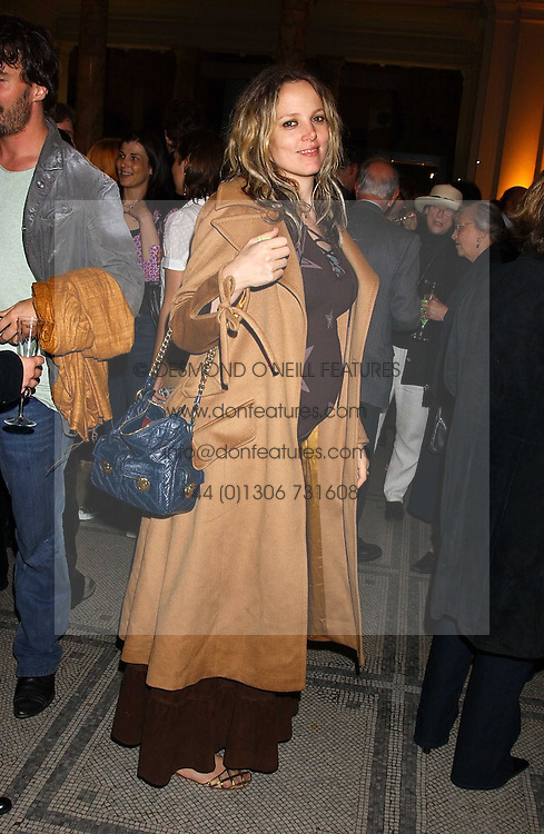 BAY GARNETT at the opening of a new exhibition 'Diane Arbus Revelations' a major retospective of the Legendary New York Photographer at the V&A museum on 11th October 2005.<br /><br />NON EXCLUSIVE - WORLD RIGHTS