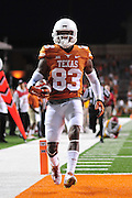 AUSTIN, TX - OCTOBER 18:  Armanti Foreman #83 of the Texas Longhorns breaks free against the Iowa State Cyclones on October 18, 2014 at Darrell K Royal-Texas Memorial Stadium in Austin, Texas.  (Photo by Cooper Neill/Getty Images) *** Local Caption *** Armanti Foreman