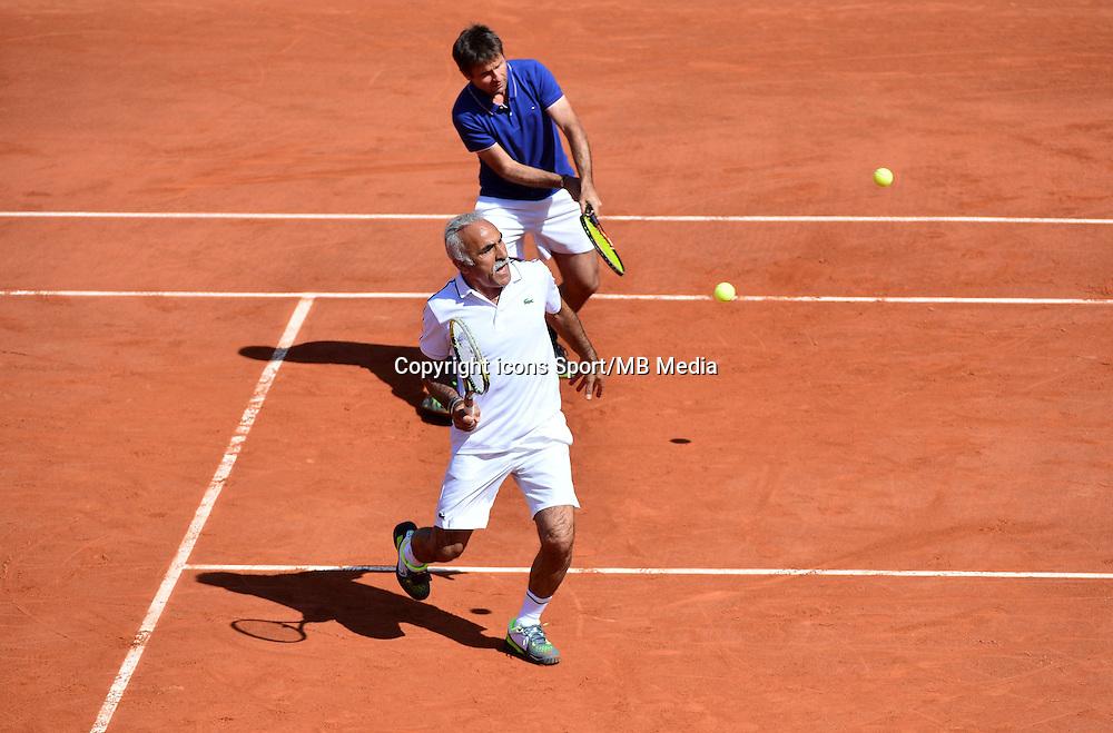 Mansour BAHRAMI / Fabrice SANTORO - 23.05.2015 - Tennis - Journee des enfants - Roland Garros 2015<br /> Photo : David Winter / Icon Sport