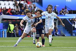 June 10, 2019 - Paris, ile de france, France - Mana IWABUCHI (JPN), Aldana COMETTI (ARG) and Miriam MAYORGA (ARG)  in Action during the match between Argentina and Japan at the 2019 World cup  on June 10, 2019, at the Parc des Princes stadium in Paris, France. (Credit Image: © Julien Mattia/NurPhoto via ZUMA Press)