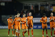 Luton Town players celebrate at full time during the EFL Sky Bet League 1 match between Luton Town and Burton Albion at Kenilworth Road, Luton, England on 22 December 2018.