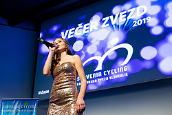 at the Slovenia's Cyclist of the year award ceremony by Slovenian Cycling Federation KZS, on November 26, 2019 in Ljubljana Castle, Ljubljana, Slovenia. Photo by Matic Klansek Velej / Sportida