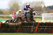 LADY BUTTONS ridden by Adam Nicol and trained by Phil Kirby winning The Listed (Class 1) OLBG.com Mares Hurdle Race (NHMOPS Bonus Race) over 2m (£22,000)  during the Bet365 Meeting at Wetherby Racecourse, Wetherby, United Kingdom on 3 November 2018. Picture by Mick Atkins.