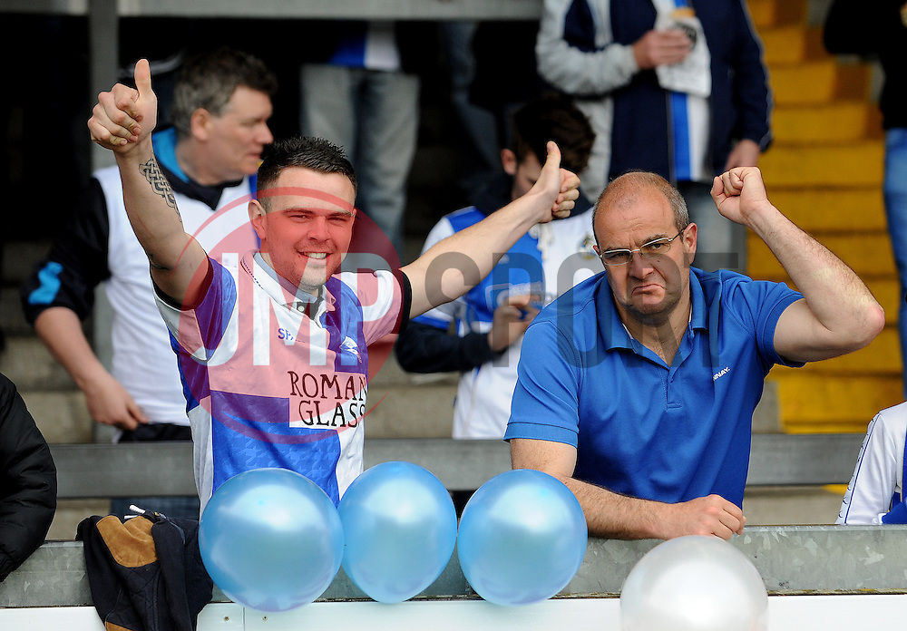 Bristol Rovers fans - Photo mandatory by-line: Neil Brookman/JMP - Mobile: 07966 386802 - 03/05/2015 - SPORT - Football - Bristol - Memorial Stadium - Bristol Rovers v Forest Green Rovers - Vanarama Football Conference