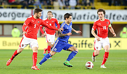 31.03.2015, Ernst Happel Stadion, Wien, AUT, Freundschaftsspiel, Oesterreich vs Bosnien Herzegowina, im Bild Marco Djuricin (AUT) , Muhamed Besic (BiH) und Julian Baumgartlinger (AUT) // during the friendly match between Austria and Bosnia and Herzegovina at the Ernst Happel Stadion, Vienna, Austria on 2015-03-31. EXPA Pictures © 2015, PhotoCredit: EXPA/ Alexander Forst