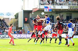 Tom Lockyer of Bristol Rovers heads towards goal  - Mandatory by-line: Dougie Allward/JMP - 14/04/2018 - FOOTBALL - Memorial Stadium - Bristol, England - Bristol Rovers v Blackburn Rovers - Sky Bet League One