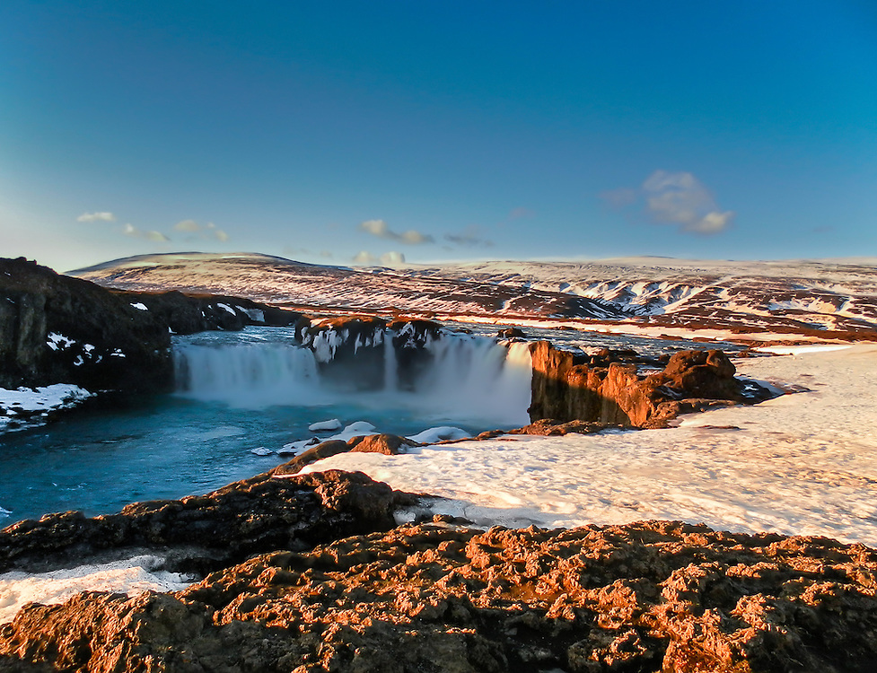 The Goðafoss is one of the most spectacular waterfalls in Iceland. It is located in the Bárðardalur district of North-Central Iceland