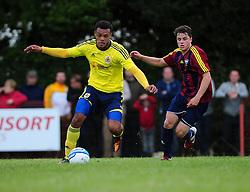 Bristol City's Aaron Amadi-Holloway gets away from his man - Photo mandatory by-line: Dougie Allward/JMP - Tel: Mobile: 07966 386802 03/07/2013 - SPORT - FOOTBALL - Bristol -  Ashton and Backwell United V Bristol City - Pre Season Friendly