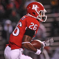 Oct 16, 2009; Piscataway, NJ, USA; Rutgers cornerback Joe Lefeged (26) returns the opening kickoff during first half NCAA football action between Rutgers and Pittsburgh at Rutgers Stadium