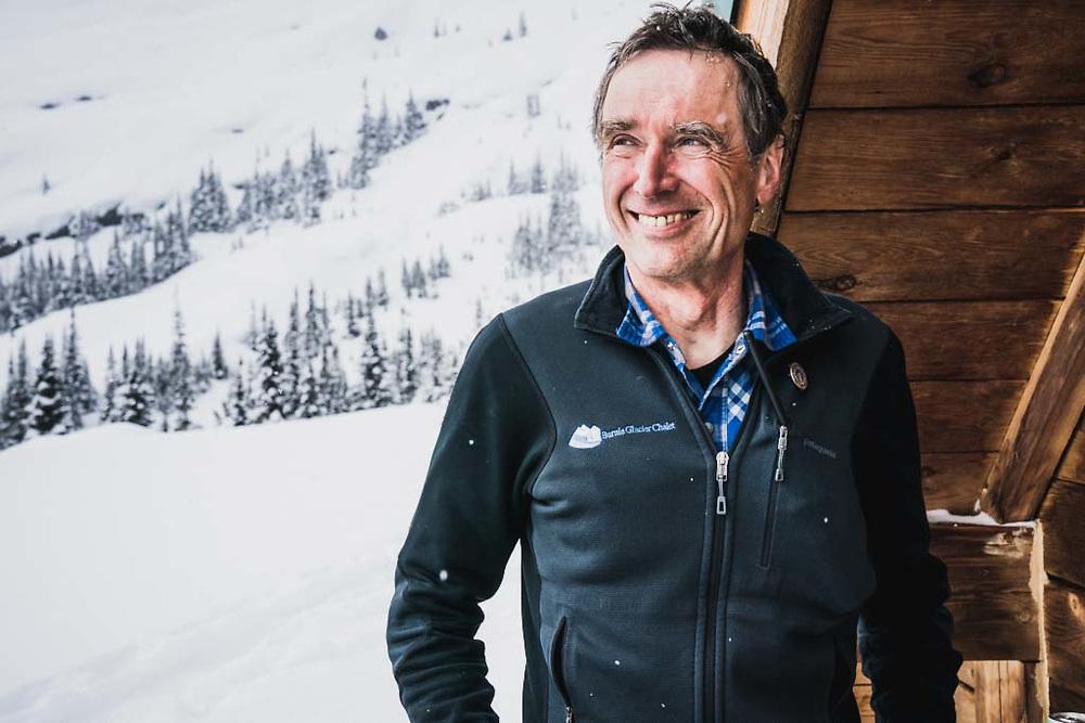 Christoph Dietzfelbinger, owner of the Burnie Glacier Chalet, British Columbia.
