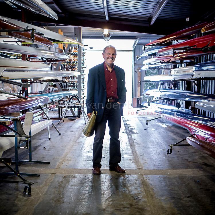 Nederland, Groningen 20131015. Jan Willem Snippe in het boothuis van Gyas. foto: Pepijn van den Broeke