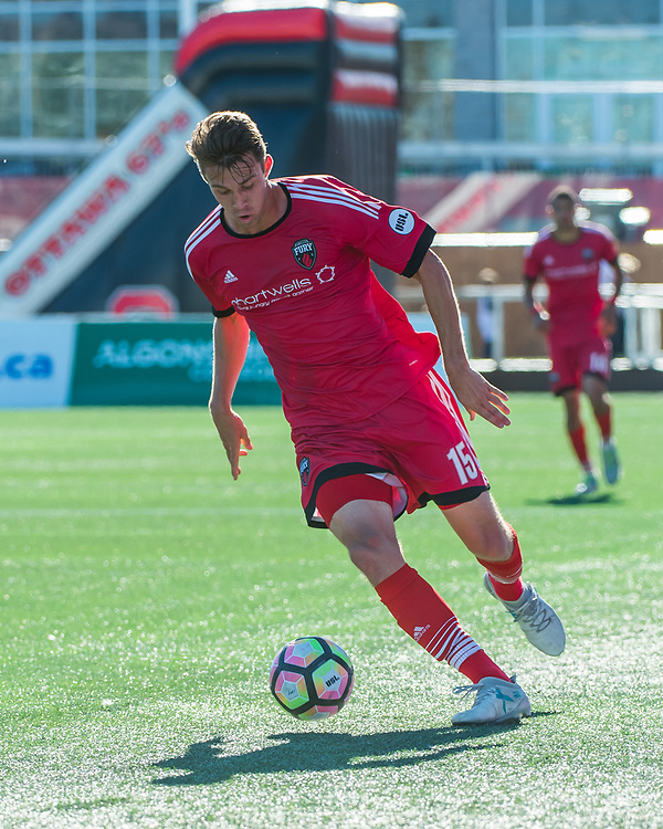 OTTAWA, ON - OCTOBER 01: USL match between the Ottawa Fury FC and Charleston Battery FC at TD Place Stadium in Ottawa, ON. Canada on Oct. 1, 2017.<br /> <br /> PHOTO: Steve Kingsman/Freestyle Photography/Ottawa Fury FC