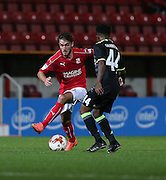 Swindon John Goddard (10) during the EFL Trophy match between Swindon Town and U23 Chelsea at the County Ground, Swindon, England on 13 September 2016. Photo by Gary Learmonth.