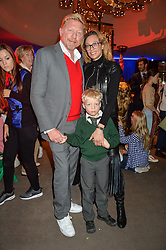 BORIS & LILY BECKER and their son AMADEUS at Never Land Children's Party at the Bulgari Hotel, 171 Knightsbridge, London on 26th April 2016.